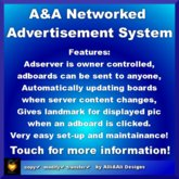 A&A Networked Advertisement System Full Permission, boxed