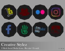 Creative Stylez - 8 Mesh Social Media Icons