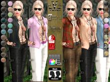 V-Twins - Biker Clothes - Sidekick Biker Version **MESH Top & Jeans [Mesh Body Compatible] Maitreya Slink & Belleza