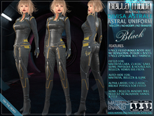 "Bella Moda: ""Divisa Astrale"" - Black Astral Uniform - Fitted for Maitreya/Classic/Physique/Hourglass/Isis/Venus/Freya"