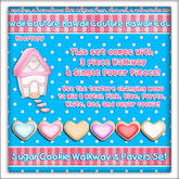 Kawaii Couture - Sugar Cookie Walkway & Paver Set - Hearts