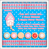 Kawaii Couture Sugar Cookie Walkway & Paver Set - Round