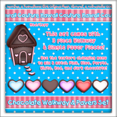 Kawaii Couture - Chocolate Walkway & Paver Set - Hearts