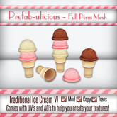 Prefabulicious Traditional Ice Cream Scoop Set V1