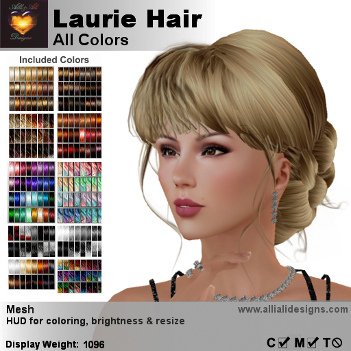 A&A Laurie Hair All Colors V2,braided low bun mesh updo style