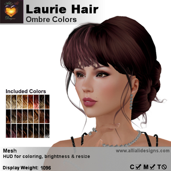 A&A Laurie Hair Ombre Colors V2,braided low bun mesh updo style