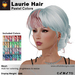 A&A Laurie Hair Pastel Colors V2,braided low bun mesh updo style