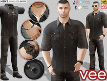 CA PROMO SIGNATURE GIANNI BELLEZA JAKE SLINK VEE OUTFIT BLACK