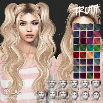 TRUTH Nylah (Fitted Mesh Hair) - Jewel