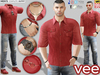CA PROMO SIGNATURE GIANNI BELLEZA JAKE SLINK VEE OUTFIT RED