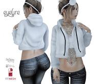 Eyelure Open Hoodie with Tee -Classic/Belleza/Slink/Maitreya  White