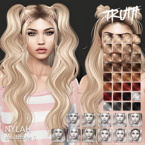 TRUTH Nylah (Fitted Mesh Hair) - Multitone 1