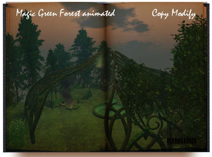 Magic Green Forest  animated Copy Modify 170 impact