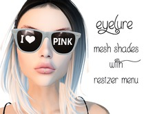 Eyelure Shades   White  I HEART PINK