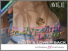 ♥ AVI{L} Bodypaint Layer: Butty & Lower Back: Toki Heart Hawaii