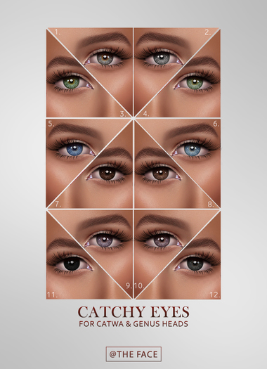 Second Life Marketplace - The Face ~ Catwa/Genus - Catchy ~ Eyes no.6