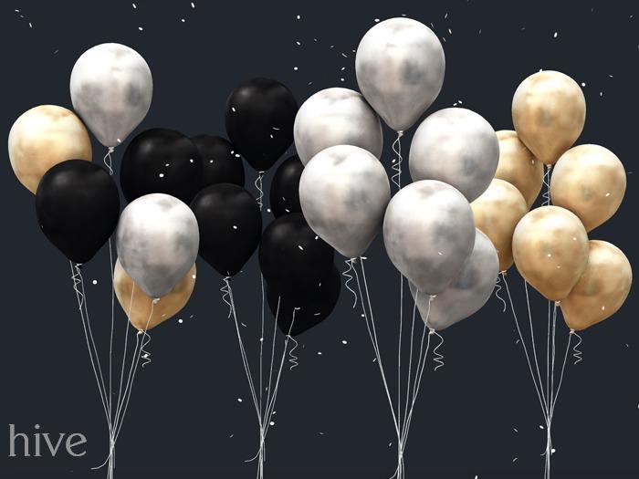 hive // black tie balloon set . bunch [wear to unpack]