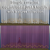 Simple curtains open/closed with textures