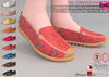 FULL PERM 9 TEXTURES NONRIG ALL BODIES Floral Print Cute Colorful Casual Slip On Flat Shoes