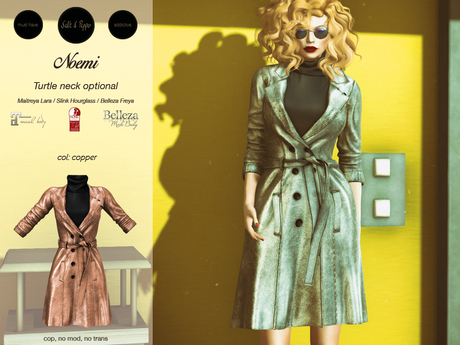 S&P Noemi Trench copper (wear to unpack)