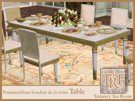 TTR-Fontainebleau Dining Table-Boudoir de la reine
