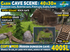 Cave cabin scene 2019 with hidden dungeon cave, instant landscaping scene