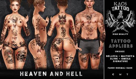 KAOS HEAVEN AND HELL TATTOO