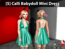 [S] Calli Babydoll Mini Dress Cyan