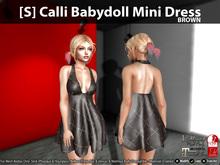 [S] Calli Babydoll Mini Dress Brown