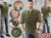 CA PROMO SIGNATURE GIANNI BELLEZA JAKE SLINK VEE OUTFIT OLIVE