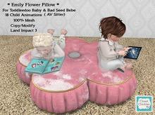 *CC* TD/Bebe *Emily Flower Pillow* (WEAR to UNPACK)