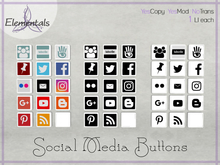 {Elementals} Social Media Buttons {Boxed}