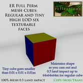 ER Full Perm Mesh Cubes - both 6 faces texturable Regular and Nano Cubes mesh cubes
