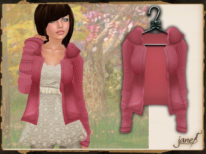 JANE -  warm embrace cardigan.strawberry