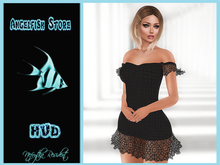 AngelFish Tracy Dress HUD BLACK with Lace