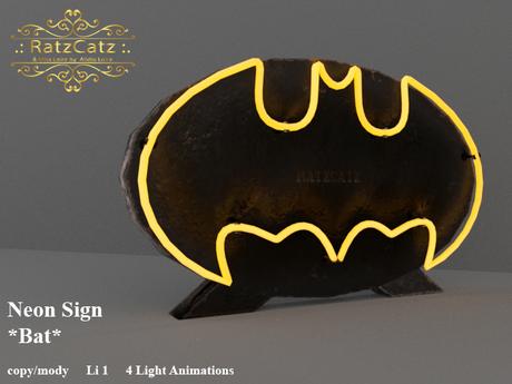 .: RatzCatz :. Neon Sign Stand *Bat*