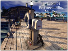 {Why Not ?} Port Appin Piling Mail Box/ Blue Buoy-Boxed