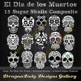 15 Sugar Skulls