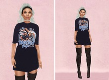 WEST - 'BSB' Oversized Graphic T-Shirt