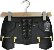 """JF Design""""Davina"""" [Maitreya/Belleza]Skirt/Panties-Leather Black"""