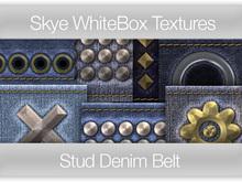 Denim Stud Belt - Skye Whitebox 84 Full Perms Textures