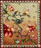 Mosaic Floral Stained Glass