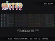 HILTED - Animated Cyber Panel - Boxy Pack