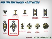 Star Trek WOK Rank Insignia - Fleet Captain
