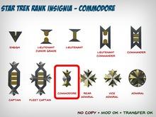 Star Trek WOK Rank Insignia - Commodore