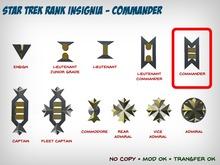 Star Trek WOK Rank Insignia - Commander