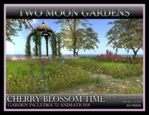 CHERRY BLOSSOM TIME* Landscaped Gardens with a folly and 72 animations