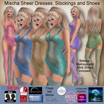 MESH Mischa Sheer Dresses, Stockings and Shoes by Moonstar