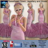 MESH Sweetheart Gown, Jewellery and Shoes by Moonstar
