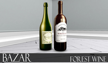 ~BAZAR~Forest Wine bottles